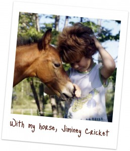 Me and my horse, when we were both little