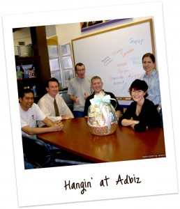 With some of the gang at Adbiz